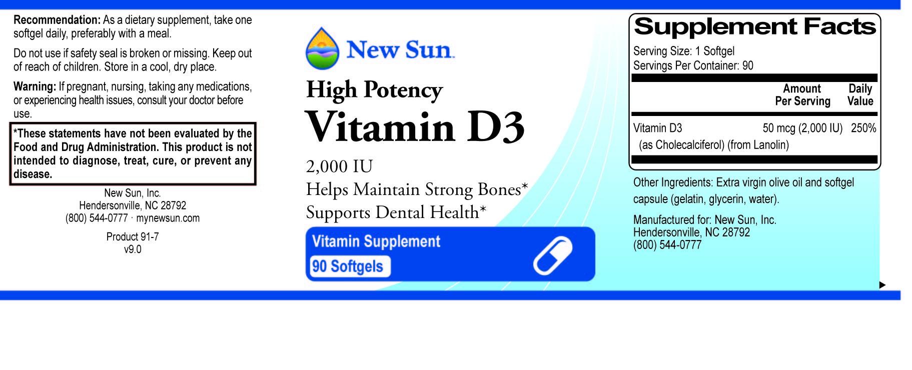 Vitamin D-3 90 softgels